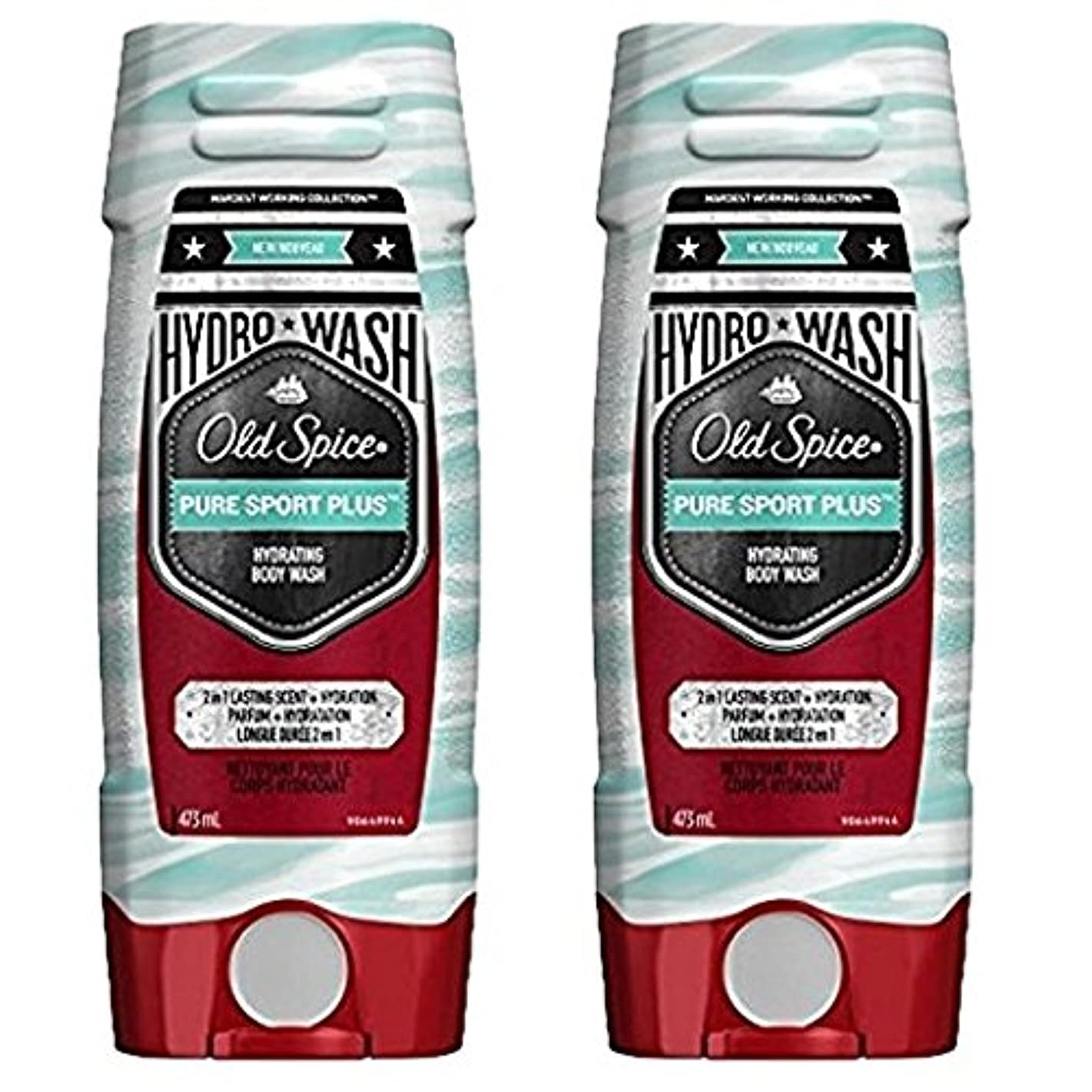 艦隊凍るシャット海外直送品 Old Spice Hydro Wash Body Wash Hardest Working Collection Pure Sport Plus 16 Oz, 2 Pack ボディーソープ 2本