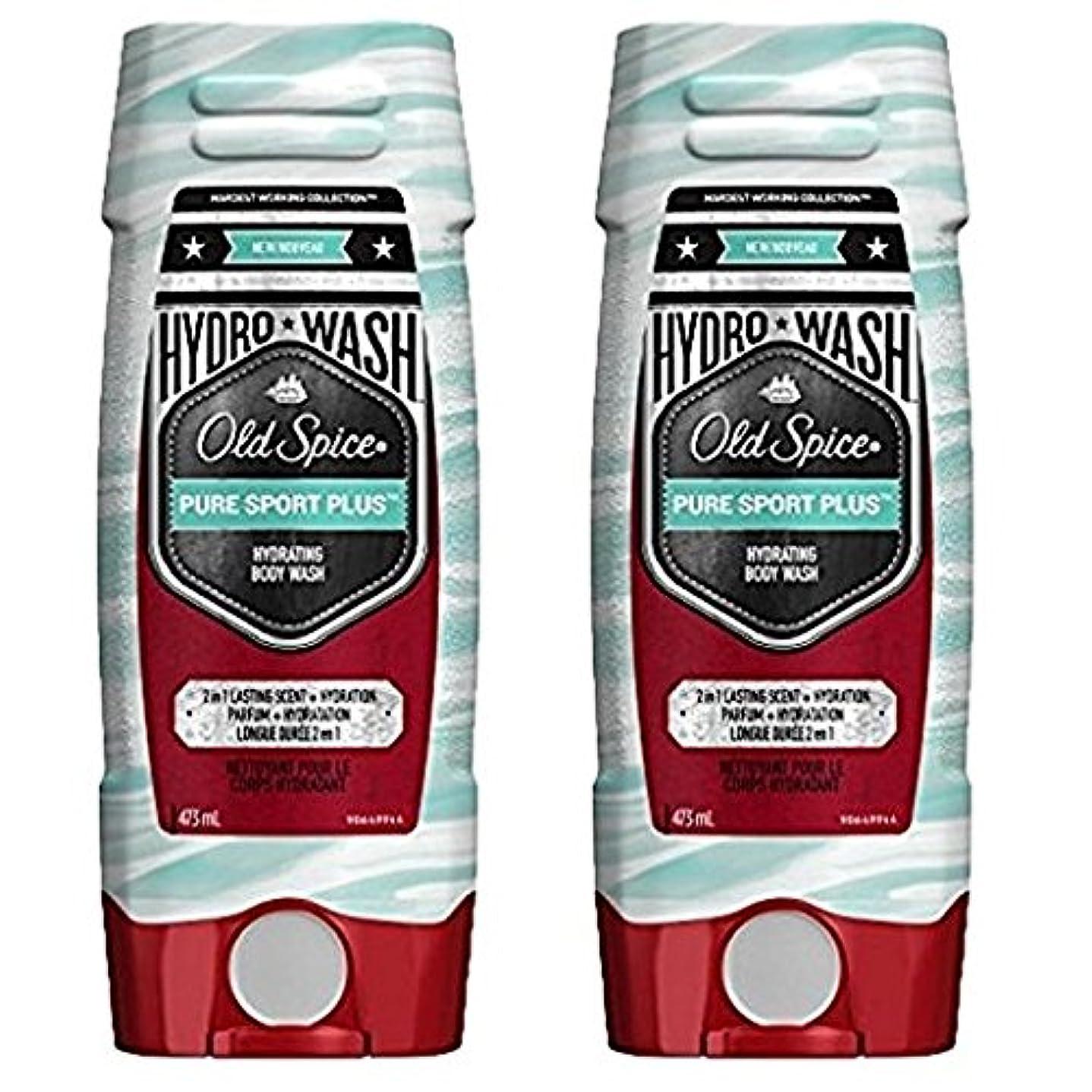 チロ費用韓国海外直送品 Old Spice Hydro Wash Body Wash Hardest Working Collection Pure Sport Plus 16 Oz, 2 Pack ボディーソープ 2本