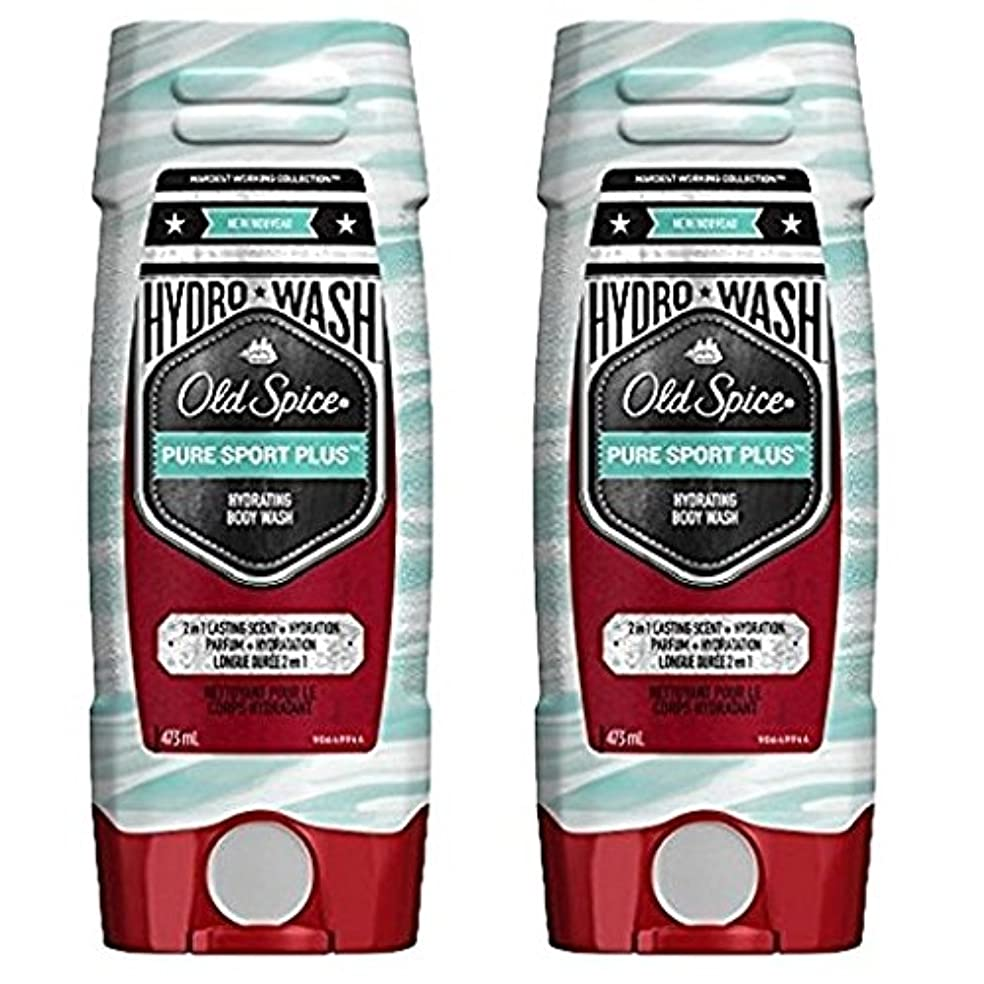 列挙するリッチシダ海外直送品 Old Spice Hydro Wash Body Wash Hardest Working Collection Pure Sport Plus 16 Oz, 2 Pack ボディーソープ 2本