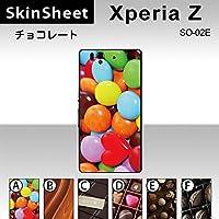 Xperia Z SO-02E 専用 スキンシート 裏面 【 B_メルトチョコ 柄】