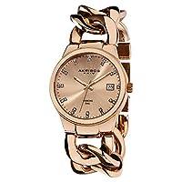Akribos XXIV Women 's ak608rg Impeccable Diamond SwissクオーツTwist Chain Bracelet Watch