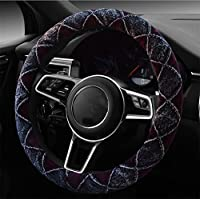 RUIRUI 高品質ウィンタースポーツカーハンドルカバー ほとんどの標準ハンドルに適合 グレー