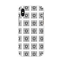 igcase iPhone XS 専用ハードケース スマホカバー カバー ケース pc ハードケース モノトーン 模様 四角 012020
