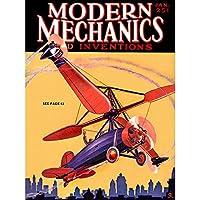 Magazine 1930 Autogyromodern Mechanics Art Canvas Print