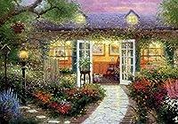 ししゅう糸 DMC糸 クロスステッチ刺繍キット 布地に図柄印刷 花園小屋