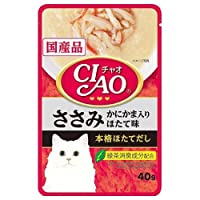 お買得セット いなば CIAO(チャオ)パウチ ささみ かにかま入り ほたて味 40g CIAO(チャオ) 国産 6袋