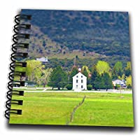 3drose Jos fauxtographee-ミニチュアHistoricalチャペル–The Chapel In Pine Valley Utah Done in aミニチュアLook Onグリーン–Drawing Book 4x4 notepad db_263332_3