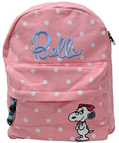(スヌーピー)SNOOPY KIDS(キッズ) PEANUTS(ピーナッツ) Belle(ベル)ポイント刺繍リュック(デイパック) ピンク