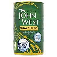 John West Tuna Chunks Oil Pole & Line 4 x 160g - (John West) マグロチャンク油ポール・ライン4×160グラム [並行輸入品]