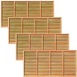 天然木製 目隠しブラインド ルーバーラティスフェンス 180×90cm 4枚セット ライトブラウン BLL-1890