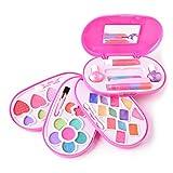 TheChoice コスメティックセット メイクアップ おもちゃ 子供向け お化粧 セット 女の子 プレゼント 4プレート 楕円形のケース