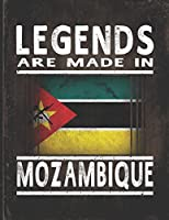 Legends Are Made In Mozambique: Customized Gift for Mozambican Coworker  Undated Planner Daily Weekly Monthly Calendar Organizer Journal
