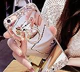 ニューバランス おすすめ Petit Prime キラキラ ビジュー クリスタル ダイヤ ベア バンカー リング付 ミラーカラー アイフォンケース シルバー iPhone7 / iPhone8 兼用