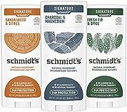 Schmidt's Deodorant for Men, Charcoal, Sandalwood, Fresh Fir with 24 Hour Odor Protection, Certified Natur