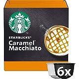 Starbucks Caramel Macchiato Coffee Pods/ Coffee Capsules by Nescafe Dolce Gusto, 6 Servings