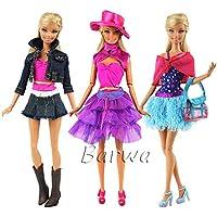 「Barwawa」3枚セット バービー 洋服 ジェニー ウェア 手作り ドール用 人形用 アクセサリー 1/6ドール用  きせかえ