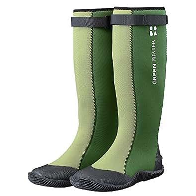 ATOM アトム レインブーツ グリーンマスター 防水 長靴 [グリーン 緑 SSサイズ:22.0-22.5cm] 折りたたみ ロングブーツ メンズ レディース 男女兼用