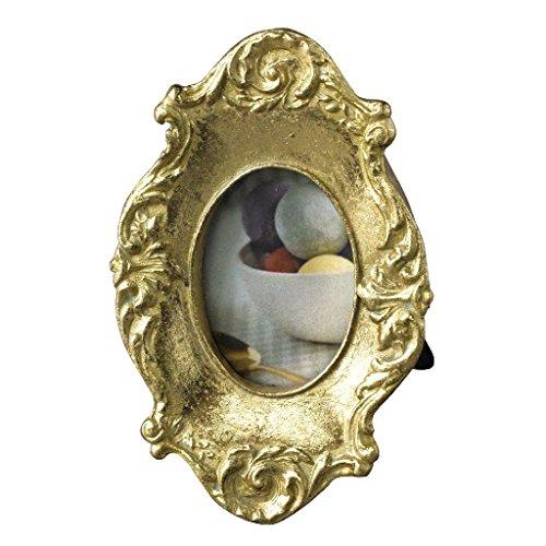 SPICE OF LIFE(スパイス) 写真立て ミニ フォトフレーム ヴィクトリアン オーバル ゴールド 6×9.5cm KMDH2180GD