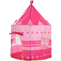 provone Princess Castle Play Tent with Glow in the Dark星、convinientllyの折り曲げto a携帯ケース、子供を楽しみ、この折りたたみ式Pop Up Play Tent / House Toy forインドア&アウトドア使用 ピンク