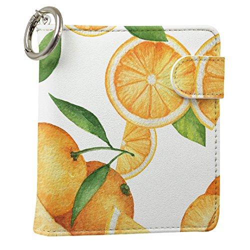 スマコレ IQOS専用 レザーケース 従来型/新型 2.4PLUS 専用 ケース カバー 合皮 カバー 収納 オレンジ 果物 柄 012061