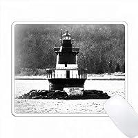 黒と白の灯台 PC Mouse Pad パソコン マウスパッド