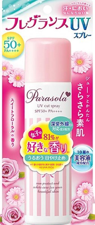 変色するリルフリルパラソーラ エッセンスイン フレグランス UVスプレー (SPF50+ PA++++) 90g スイートフローラルの香り