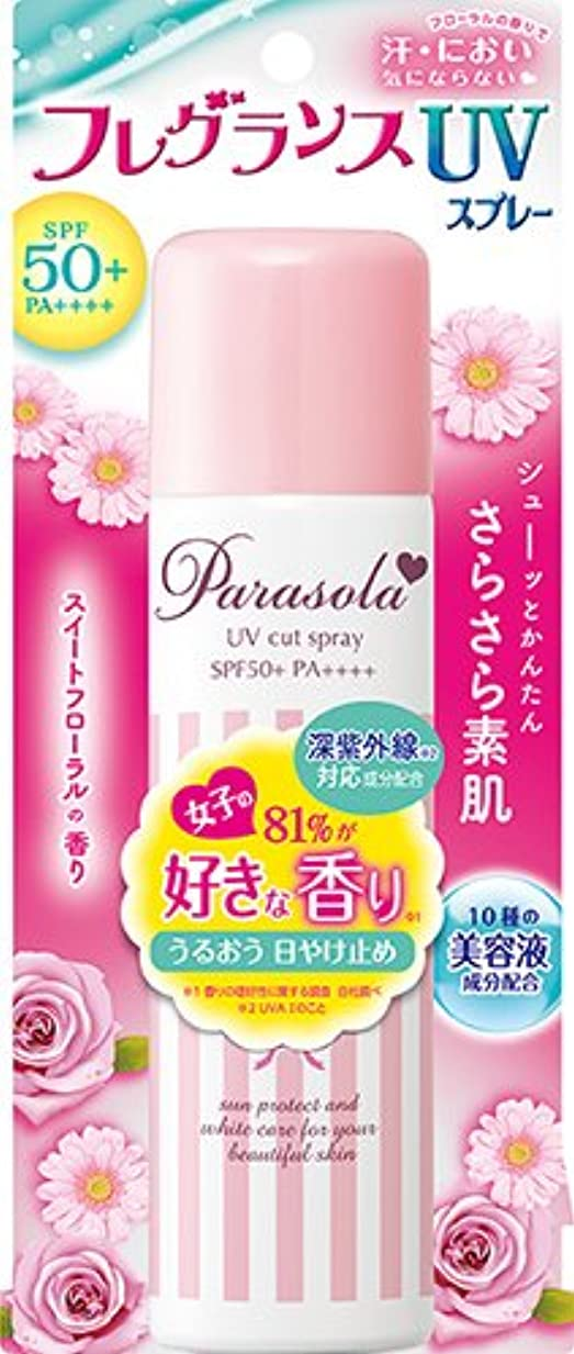 スマイルよろめくマッシュパラソーラ エッセンスイン フレグランス UVスプレー (SPF50+ PA++++) 90g スイートフローラルの香り