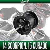 【Avail/アベイル】 14スコーピオン 200用,15クラド 200用 NEWマイクロキャストスプール 14SCP2050R ブラック