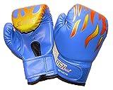 通気性 抜群 メッシュ 素材 練習 ボクシング グローブ 子供 こども ジュニア キッズ 用 ブルー 青