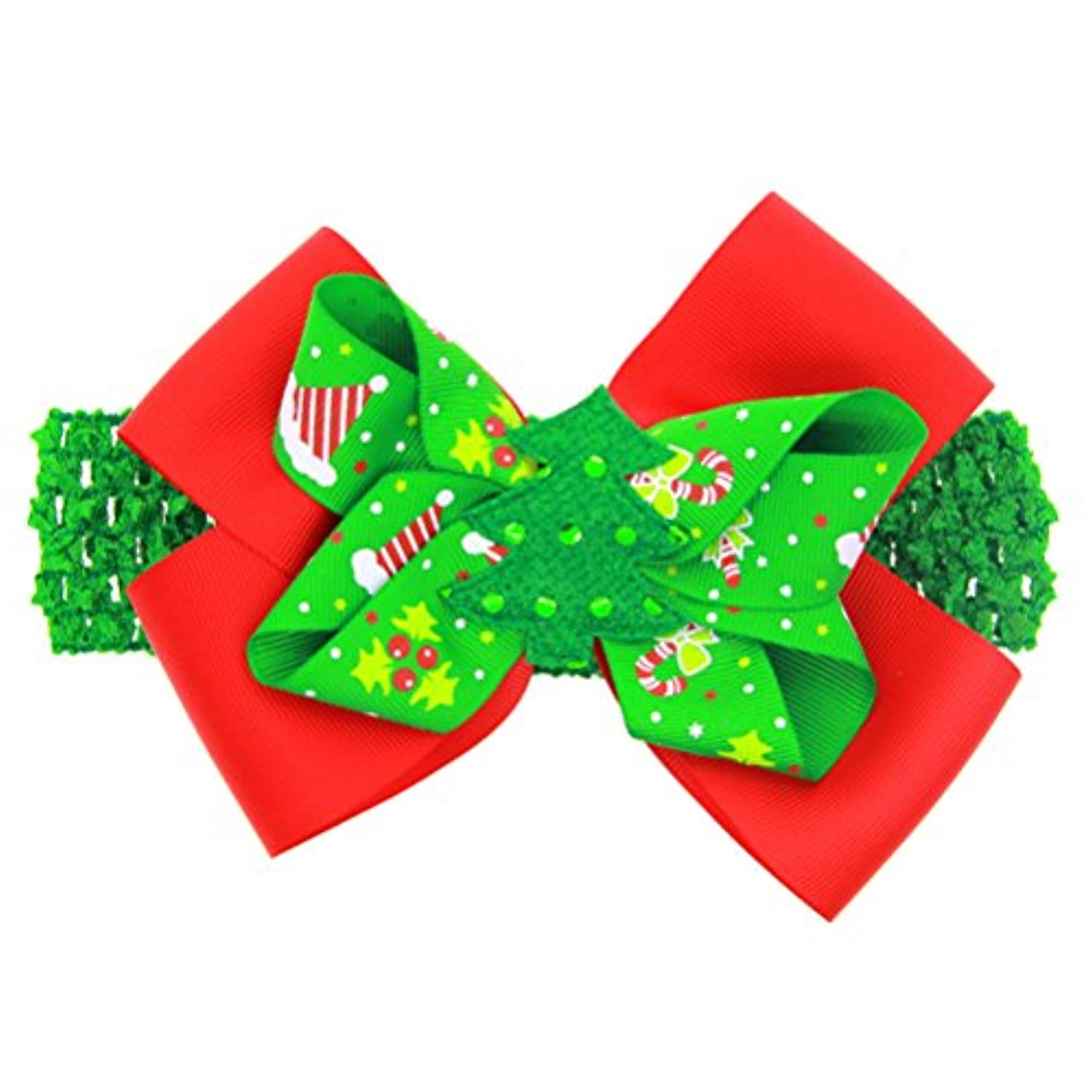 Zhhlaixing ベビー小物 Kids Headband Headdress Hair Clips Christmas Ribbon Bowknot Hairpin Hair Accessories for Girls