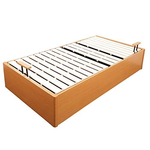 跳ね上げ収納ベッド セミシングル フレームのみ 大収納ベッド/ナチュラル