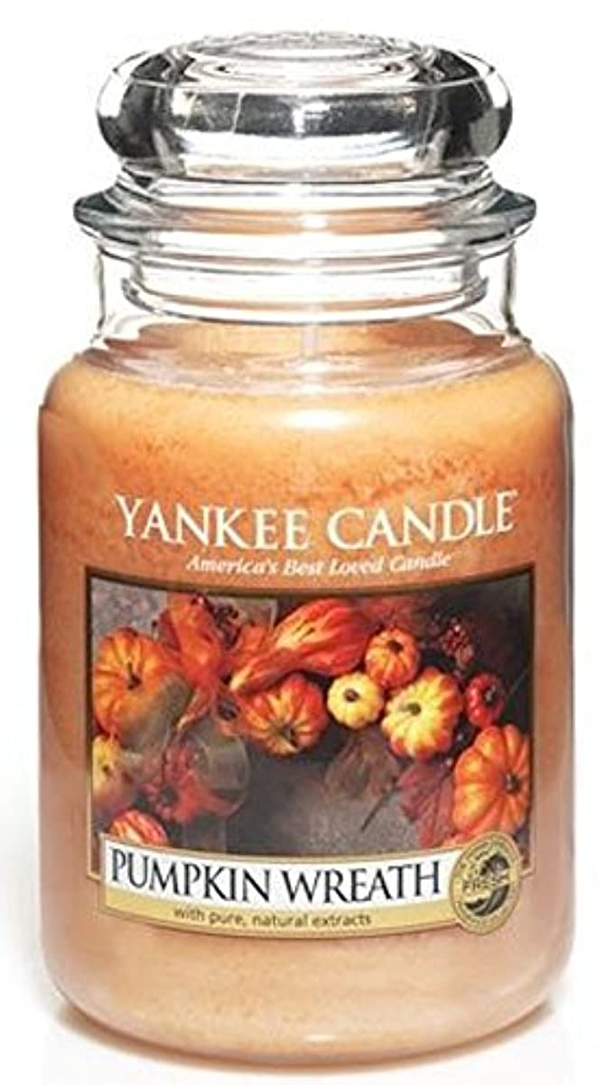 と遊ぶ指導する勝者Yankee Candle Pumpkin Wreath Large Jar Candle、新鮮な香り