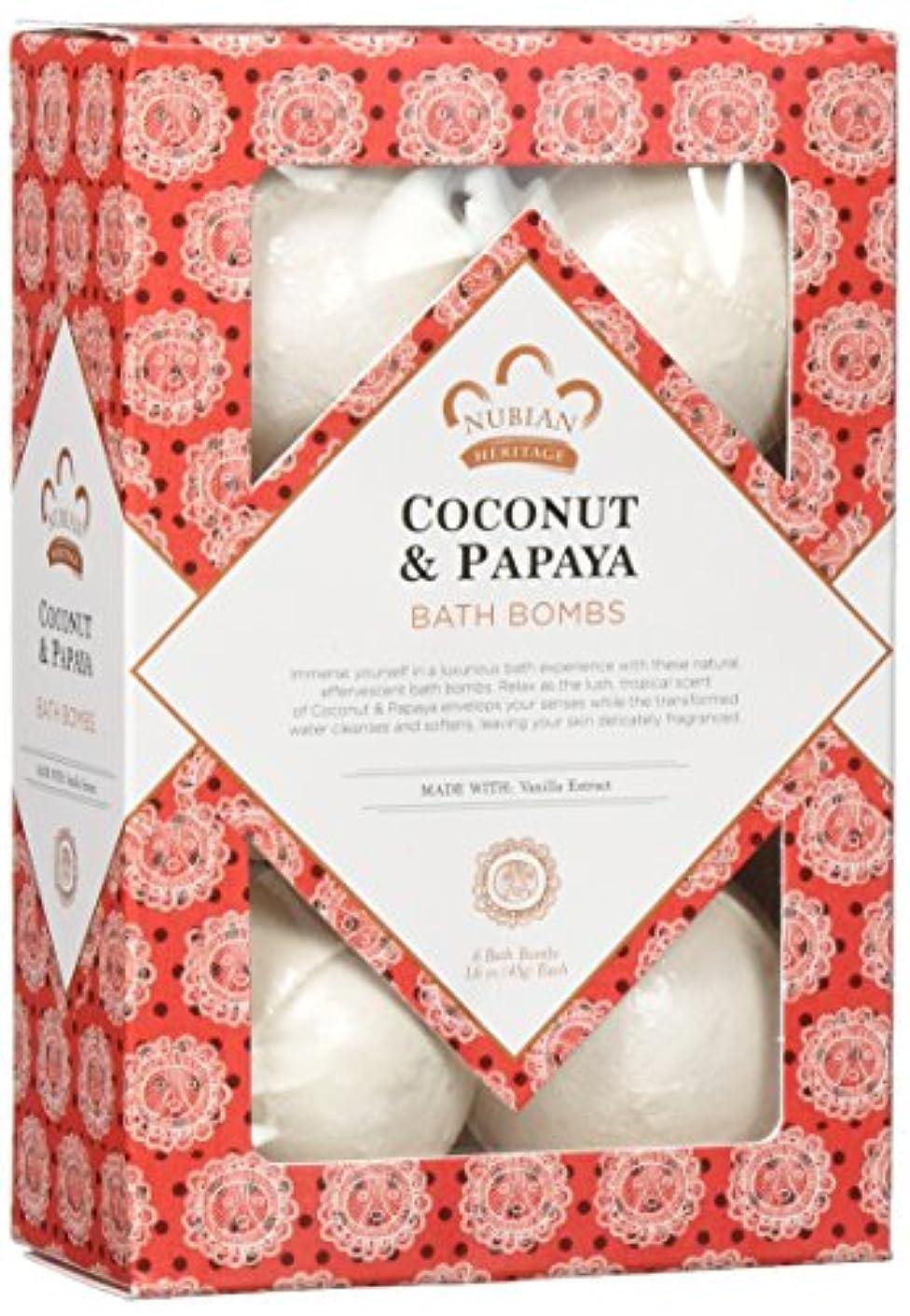 要旨受粉する誘うCoconut & Papaya Bath Bomb