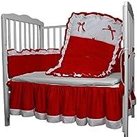 Baby Doll Bedding Regal Crib Bedding Set, Red [並行輸入品]