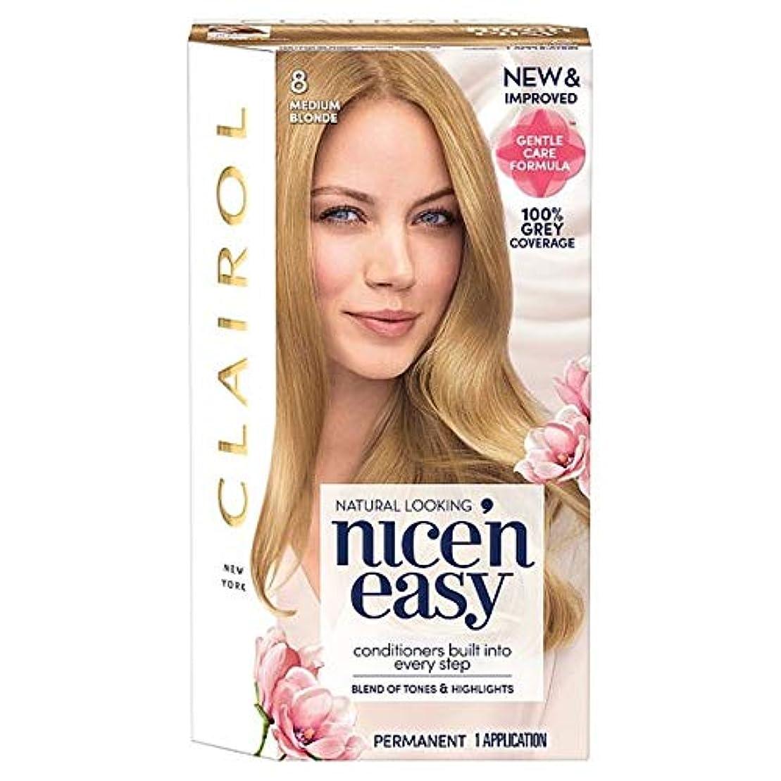 貴重な空中ブラジャー[Nice'n Easy] クレイロール「素敵Nは簡単にメディアブロンド8ヘアダイ - Clairol Nice 'N Easy Medium Blonde 8 Hair Dye [並行輸入品]