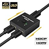 HDMI 切替器 4K 60HZ hdmi Ver2.0 セレクター 1入力2出力/2入力1出力 双方向 HDCP 2.2 手動 切り替え PS4 Pro DVDプレーヤー HDTV対応