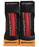 CONTINENTAL ULTRASPORT コンチネンタル ウルトラスポーツ 700×23C レッド 2本セット