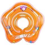 guobang ベビー用浮き輪首リング 水泳ネックリング スイムリング 空気漏れ防止 保護用品 お風呂 水泳 水遊び プール スポーツ 可調整 0-12ヶ月の赤ちゃんに最適