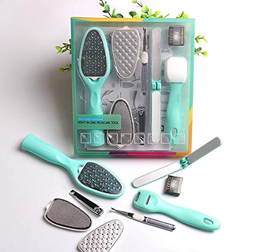 8 in 1 Removable Pedicure Feet Rasps Callus Shaver Remover Replaceable Foot File Hard Dead Skin Trimmer Tools...