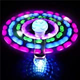 """7.5"""" Light-up Wand - LED Moon Jelly Spinner Toy - Perfect for Rave Party, Carnival Prizes, Birthday Gifts, Orbiter Sticks, Light Toys, Bash, Party Favor, and Supplies"""