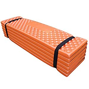 MMSZ 極厚 レジャーマット 折りたたみ 極厚 クッション キャンプ用マット 防水 睡眠マット オレンジ
