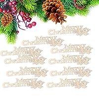 クリスマス飾り 天然木製 DIY クリスマスパターン クラフトアクセサリー 手作り 家の装飾用 10ピース