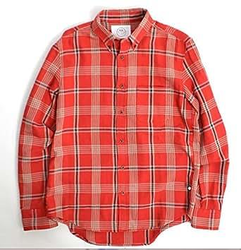 SURF/BRAND×JACKSON MATISSE サーフブランド×ジャクソンマティス Cheack Shirt  ダブルネーム チェックシャツ (S, RED)
