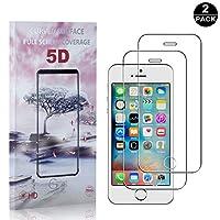 【2枚セット】 iPhone SE / 5 5S 硬度9H フィルム CUNUS Apple iPhone SE / 5 5S 専用設計 強化ガラスフィルム 高透明度で 99%透過率 気泡防止 耐衝撃 超薄 液晶保護フィルム