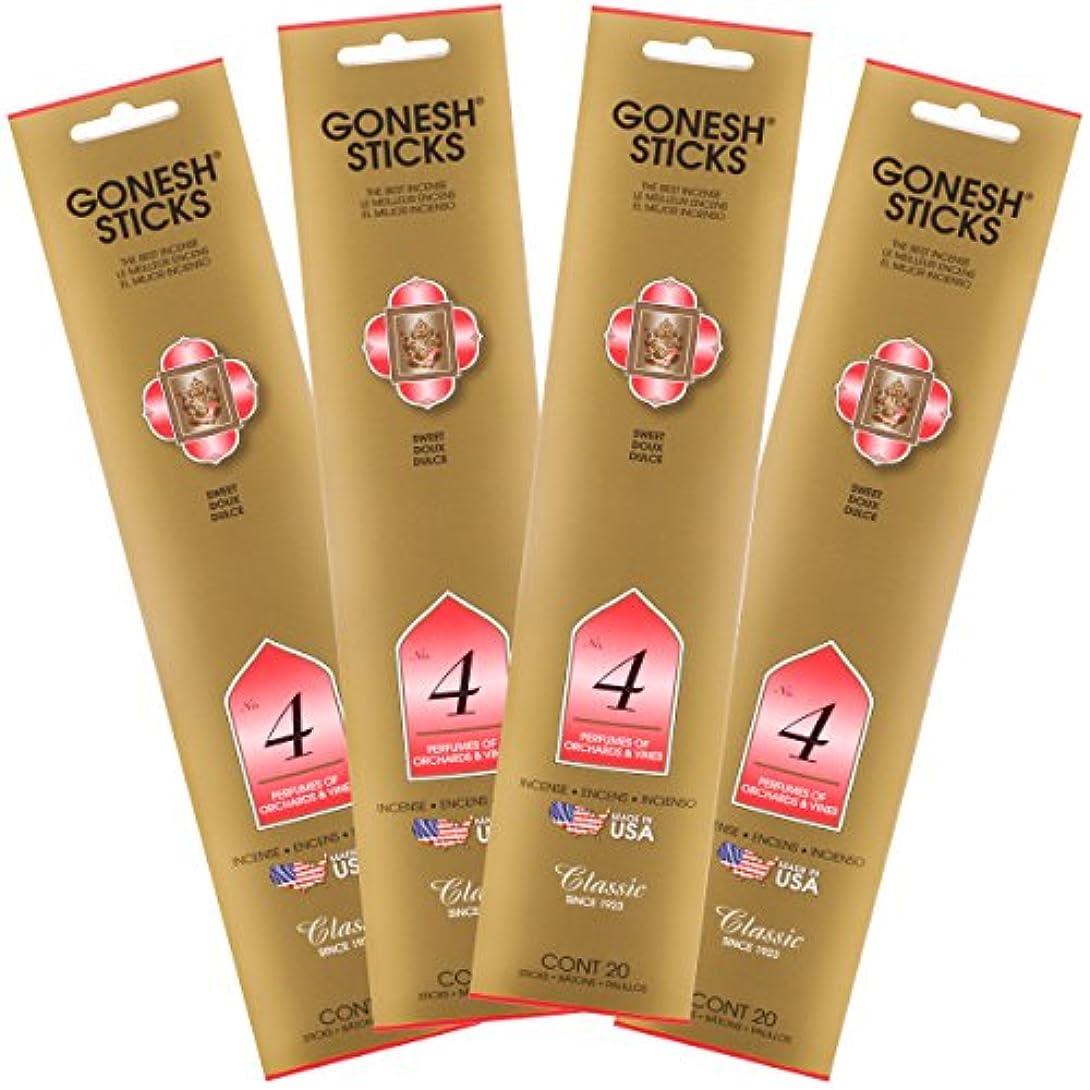 日付ライセンス最大のGonesh Incense Sticks – クラシック# 4 Perfumes Of ochards and Vines Lot of 4