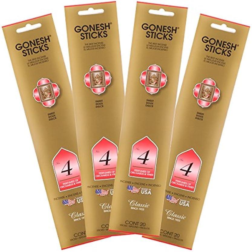 ケーブルストレスの多い肺炎Gonesh Incense Sticks – クラシック# 4 Perfumes Of ochards and Vines Lot of 4