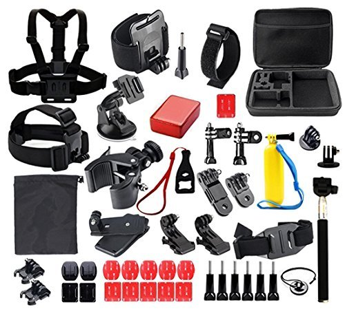 Aiposen 41-in-1 Outdoor Sport Camera Accessories Bundle Kit for Gopro Camera SJ CAM and Xiao Mi YI Camera [並行輸入品]