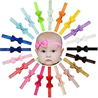 SeaISee 10個ベビー女の子ヘッドバンドグログランリボンヘアリボンヘアバンドヘアバンドfor Teens / Toddlers。。。 20 マルチカラー SS-T053