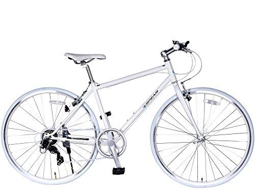 SPEAR(スペア)クロスバイク 700C 変速 7段 SPC7007 適用身長 160cm 以上 1年保証付 (ホワイト)