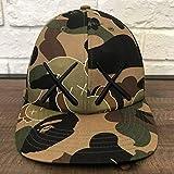 kaws 1st camo キャップ Mサイズ a bathing ape bape エイプ ベイプ アベイシングエイプ カウズ original fake 帽子 カモフラ
